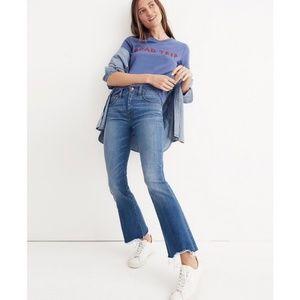 Madewell Cali Demi-Boot Destructed Hem Jeans sz 24